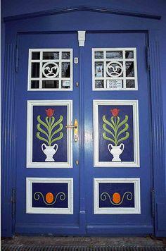Painted door. Germany