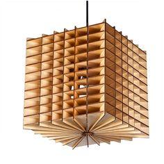 Cubes pendant lamp, size: 288*288*300  #wooddesign #woodlampshade #woodenlamp #woodlight #homedecor #pendant #lightingdesign #francisting #design #interior #project #woodworking #pendantlights #lightingfixture #homelighting #kichenlighting