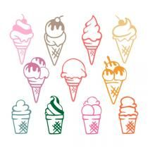 Ice Cream SVG Cuttable Designs