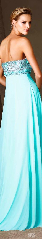Pronovias 2017 Cocktail Dresses/Cloette Fashion Themes, Fashion Dresses, Turquoise, Aqua, Teal, Tiffany Blue, Shades Of Blue, Nice Tops, Her Style