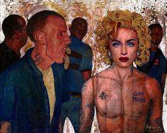 """""""Gay Pride"""" Acrylic on canvas, 8""""x10"""", 2015."""