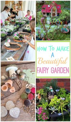 Get some tips on how to make a beautiful fairly garden with the kids