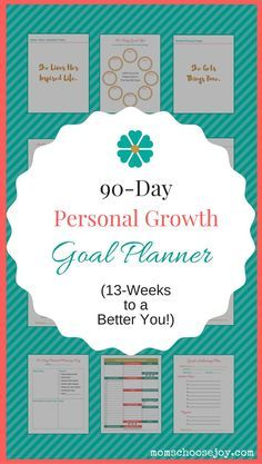 Did you know that 90-Days (or 13-weeks) has been shown to be the sweet spot for goal-achieving success? The reason for this is that you can easily envision what you can get done in a 90-Day period. When you can clearly envision your future success, you are more likely to be successful. This 90-Day Personal Growth Goal Planner will put on the path to finally live the life you deserve. Click for more information.