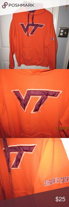 Mens Virginia Tech VT Hoodie Pullover NCAA ACC Men's Virginia Tech VT Hoodie Pullover NCAA ACC It has a hood, and a 2 hand pocket in the front. Stadium Athletics Sweaters