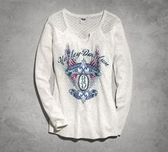 Women's Lace Long-Sleeve Henley