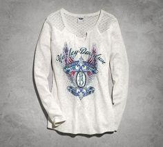 Women's Lace Long-Sleeve Henley