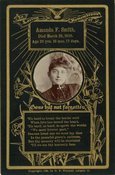 """""""in memoriam"""" cabinet cards - probably could do this pretty inexpensively for a nice coping activity at a tough time"""