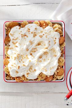 This salty, sweet, dessert is a no-bake delight that will get people talking. Recipe: Salty Peanut Banana Pudding