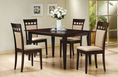 5-Piece Dining Set in Rich Cappuccino - Coaster >>> Insider's special review you can't miss. Read more  : Coasters Home Decor