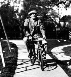 francisco salamone y su bicicleta.