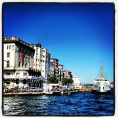 Ferry boat, Istanbul Ocean Sailing, Ferry Boat, Mediterranean Sea, Photo Online, Vacation Spots, Istanbul, New York Skyline, Transportation, Greece