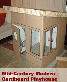 sleek card board house- its like grandmas house but cardboard and not falling off of a hill... @Emily Lawrence @Anna Leach