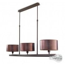 LA CREU Lighting - SPICA Ceiling Light, Rusty Brown, Old Copper Silk Shades - 20-4369-Z6-V7