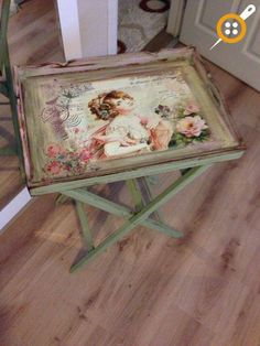 Wood painting tray models – Wood painting samples – Wood Works – Just another WordPress site Decoupage Vintage, Decoupage Art, Vintage Shabby Chic, Decoupage Ideas, Decoupage Furniture, Paint Furniture, Shabby Chic Furniture, Furniture Makeover, Furniture Projects