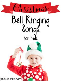 Get your jingle bells ready and let your kids enjoy these Christmas Bell Ringing Songs! Perfect for preschool/ kindergarten kids to ring bells as they sing. Preschool Christmas Songs, Christmas Poems, Preschool Music, Christmas Concert, Christmas Bells, Kids Christmas, Toddler Christmas Songs, Music Activities, Kids Xmas Songs