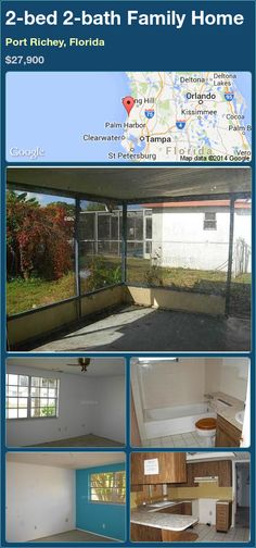 2-bed 2-bath Family Home in Port Richey, Florida ►$27,900 #PropertyForSale #RealEstate #Florida http://florida-magic.com/properties/86897-family-home-for-sale-in-port-richey-florida-with-2-bedroom-2-bathroom