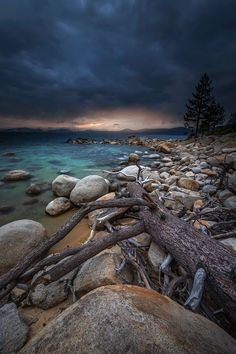 Calm Before the Storm - Sunset - Lake Tahoe, NV USA