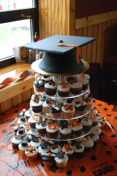 graduation cake idea//cupcake tower, graduation, Cake Guru, Oshkosh, WI