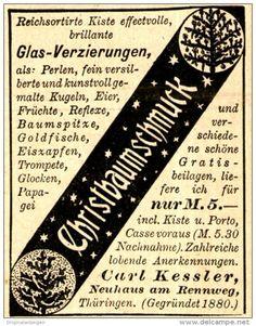 Original-Werbung/Anzeige 1898 - CHRISTBAUMSCHMUCK - CARL KESSLER - NEUHAUS AM…