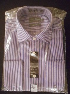 BNWT M/&S Limited Edition Navy /& Pink Check Shirt RRP £29.50 Just £9.50