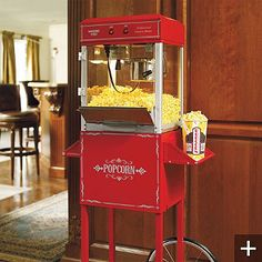 Professional Popcorn Maker brings the movie theater experience to your home. This countertop popper yields enough fresh, cinema-style popcorn for the whole family in less than 2-1/2 minutes.