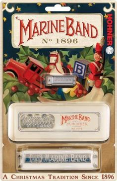 Hohner 1896 Marine Band Harmonica with Extra Mini Harmonica by Hohner. $34.99. The Hohner 1896 Marine Band Harmonica follows in has been played by world-famous musicians like John Lennon, Bruce Springsteen, Little Walter, and Paul Butterfield. The Hohner Marine Band is a number-one choice among top professionals and one of the most recognizable harmonicas all over the world. Known for its full tone, wood comb, and its patented cover plates, the Marine Band harmonica...