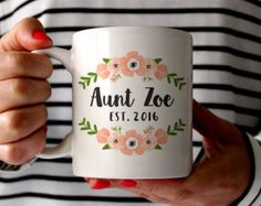 Aunt Mug Personalized Aunt Coffee Mug gift for by theMugHermit