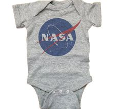 Baby Nasa Unisex Onesie  Cool Nasa Baby T Shirt by GoodTimeThreads