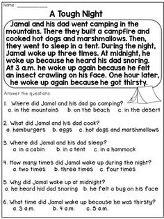 Grade Reading Homework: Reading Passages and Questions Free Reading Comprehension Worksheets, 2nd Grade Reading Worksheets, First Grade Reading Comprehension, Reading Fluency, Comprehension Questions, Reading Tutoring, 2nd Grade Reading Passages, 3rd Grade Reading, 2nd Grade Writing