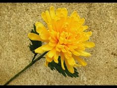 How to make Chrysanthemum flower from crepe paper | Craft tutorial | DIY...
