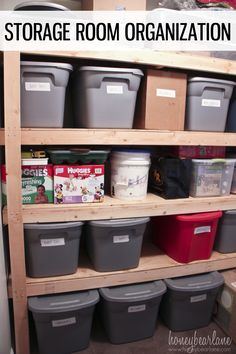 It's easier than it looks to organize your storage room.  These DIY storage shelves are a quick build for even a beginner!