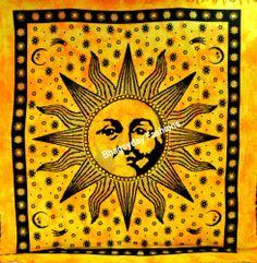 Indian Wall Decor Mandala Tapestry Sun Bedspread Hippie Wall Hanging Ethnic Art