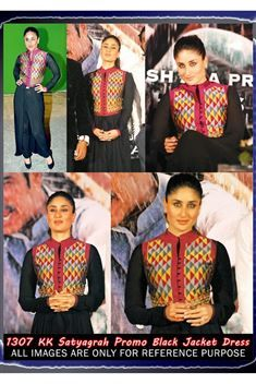 Kareena Kapoor Black Satyagraha Promo Replica Suit