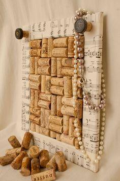 Sheet Music Wine Cork Board. $35.00, via Etsy.
