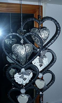 Works of bicycle tires I Love Heart, Key To My Heart, Heart Art, Valentine Day Love, Valentines, Tire Art, Tyres Recycle, Wind Chimes, Heart Shapes