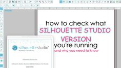 Check Your Silhouette Studio Version Now: How and Why!