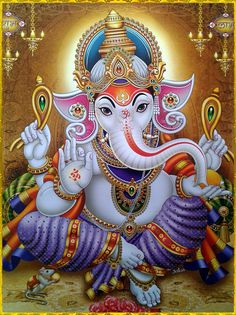 Lord Ganesha is one of the most popular Hindu deity. Here are top Lord Ganesha images, photos, HD wallpapers for your desktop and mobile devices. Ganesh Images, Ganesha Pictures, Shiva Art, Hindu Art, Arte Ganesha, Happy Ganesh Chaturthi Images, Ganesh Photo, Ganesh Lord, Lord Ganesha Paintings