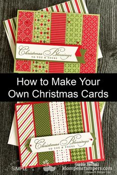 I'm excited to share a simple card layout that's perfect for making easy Christmas cards. I'm also sharing how you can get 10 card layouts. Check it out at www.klompenstampers.com #simplechristmascards #handmadechristmascards #diychristmascards #christmascardideas #simplecards #cardmaking #cardmakingtutorials #jackiebolhuis #klompenstampers #stampinupcards #stampinupchristmascards