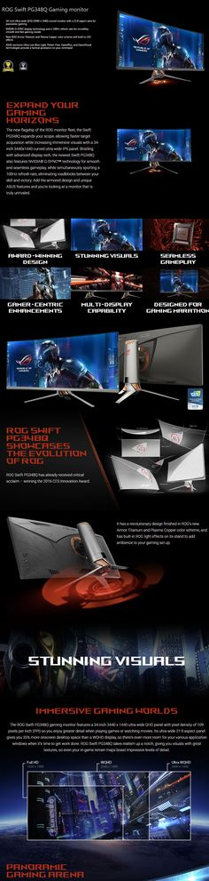 "ASUS ROG PG348Q 34"" Curved G-Sync 100Hz 1440P IPS Gaming Monitor - Computer Lounge"