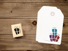 Stempel Geschenke (schmal) von catsonappletrees auf DaWanda.com