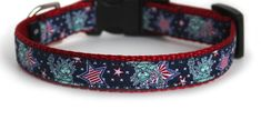Fourth of July Dog Collar, Red, White, Blue, Quick Release, Patriotic Dog Collar, Small Dog Collar - Lady Liberty