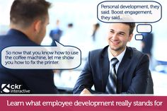 """#Employees are destined for more than just """"printer fixer"""" and """"coffee jockey"""". #Employers and recruiters should be building you from the ground up in order to succeed. Want some advice as to how to develop your employees? Read our entry!  #recruitment #marketing #employer #branding #advocacy"""