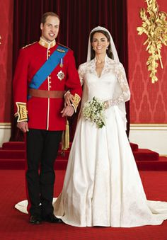 Prince William Arthur Philip Louis & Catherine Elizabeth Middleton - Wedding Day April 29, 2011. Now known as Duke and Duchess of Cambridge.
