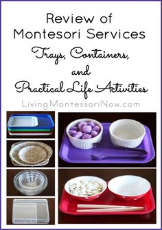 For this Montessori Services review, I requested some of the most frequently used items in a Montessori home or classroom ... trays, baskets, and practical life activities.