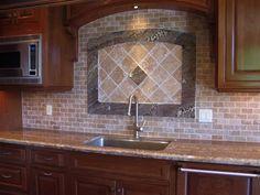 Giallo Ornamental Granite with Backsplash | Giallo Granite/cherry cabinets - pics? And help with backsplash ...