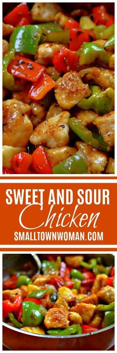 You can pull this Sweet and Sour Chicken Recipe together in about 30 minutes. It is a tasty dish all by itself but you can serve it over rice or noodles. Turkey Recipes, Chicken Recipes, Dinner Recipes, Dinner Ideas, Asian Recipes, Healthy Recipes, Healthy Foods, Sweet Sour Chicken, Asian Chicken