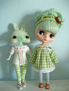 Tokissi Rabbits and the Takara Neo Blythe seem to have the same sized body. Think of the possibilities!  little friends by merwing✿little dear, via Flickr