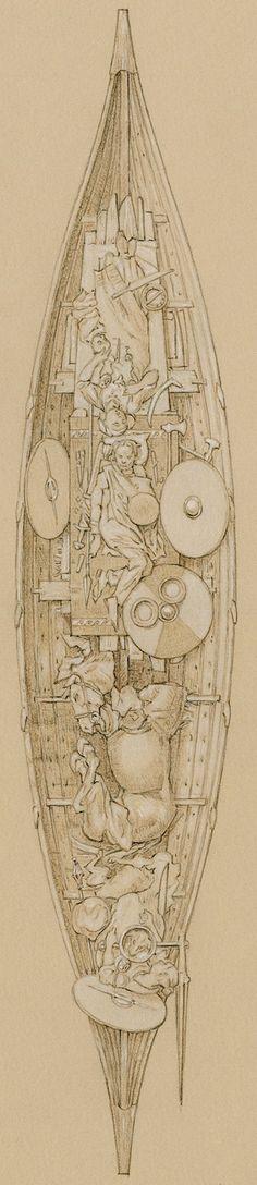 Das letzte Geleit in der Wikingerzeit - Die Menschen in der Wikingerzeit haben sich die gleiche ewige Frage gestellt wie wir heute auch - wie es nach dem Tod weitergeht. Die Schiffsbestattung von Kaupang ist eine ihrer Antworten auf diese Frage - sie haben ihre Toten mit Ehrfurcht und Respekt bestattet und ihnen somit einen würdevollen Weg bereitet.