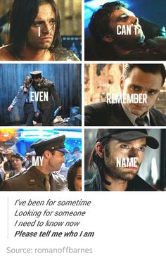 Please tell me who I am :'( #buckybarnes