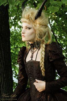 victorian satyre steambunk elf woman, viona-art
